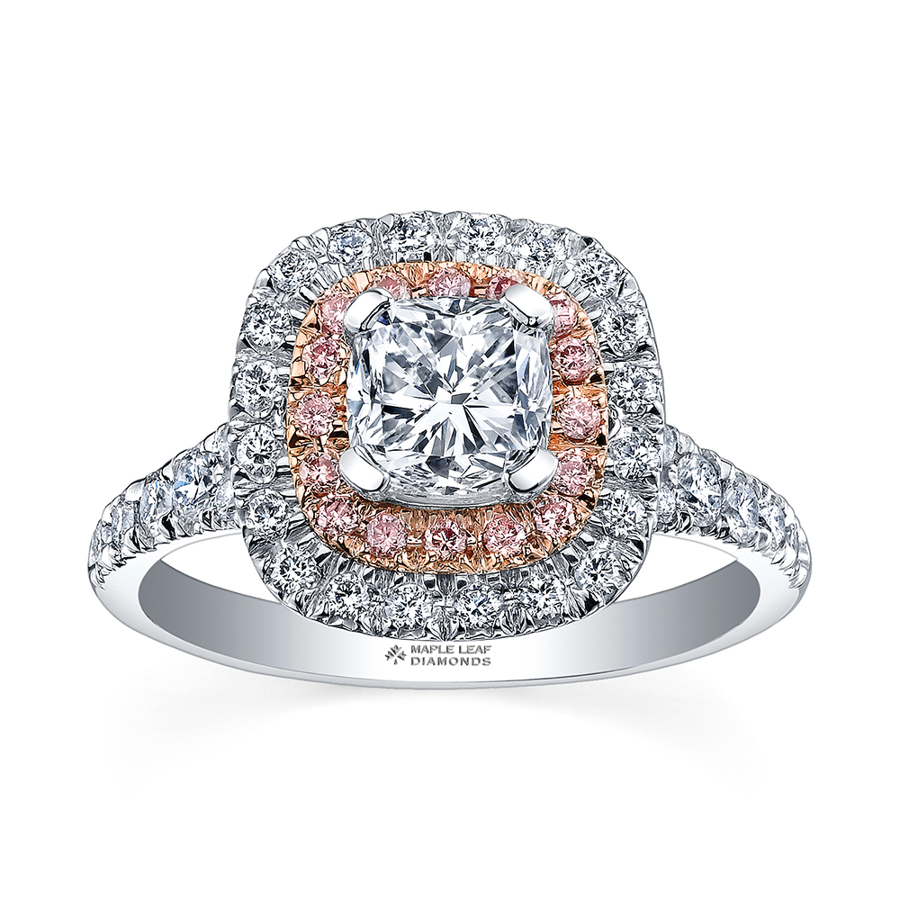 Crown Family Jewellers 18K White & Rose Gold Ring