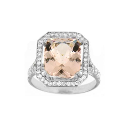 Crown Family Jewellers Morganite Diamond Ring