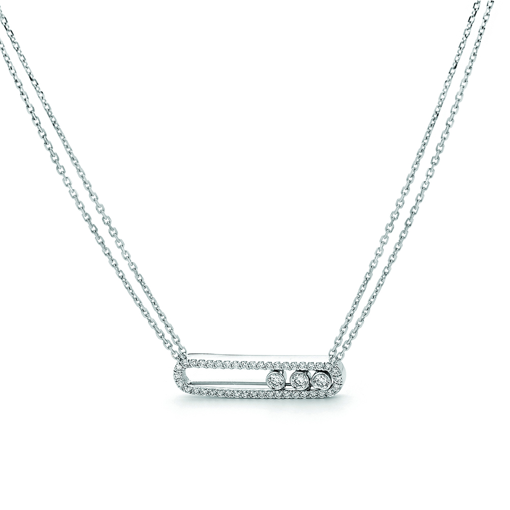 Crown Family Jewellers White Gold Necklace