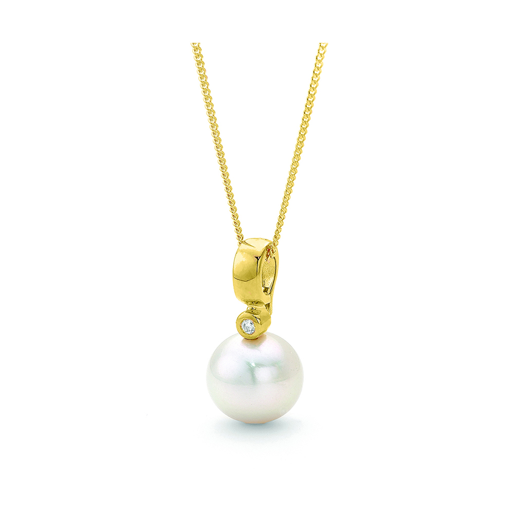 Crown Family Jewellers Pearl Diamond Pendant