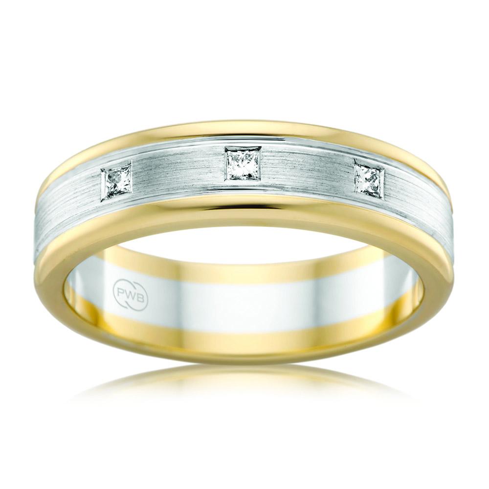 Crown Family Jewellers 2 Tone Diamond Set Wedder